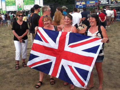 It was a British Invasion at Balloon Rally and Glow and Rib Fest Friday night! Hey girls, did you remember to bring the Scotch?