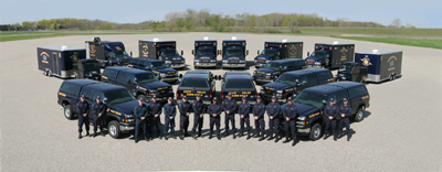 The Michigan State Police Bomb Squad consists of 15 members assigned to seven regional bomb teams. These teams provide statewide response coverage to suspect explosive devices and Weapon of Mass Destruction (WMD) incidents.