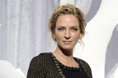 U.S. actress Uma Thurman attends the Spring/Summer 2012 women's ready-to-wear collection show by German designer Karl Lagerfeld for French f