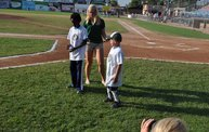 Belky's 1st pitch at the Woodchucks game 7 16 12 6