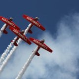 Stunt planes at the EAA AirVenture in Oshkosh