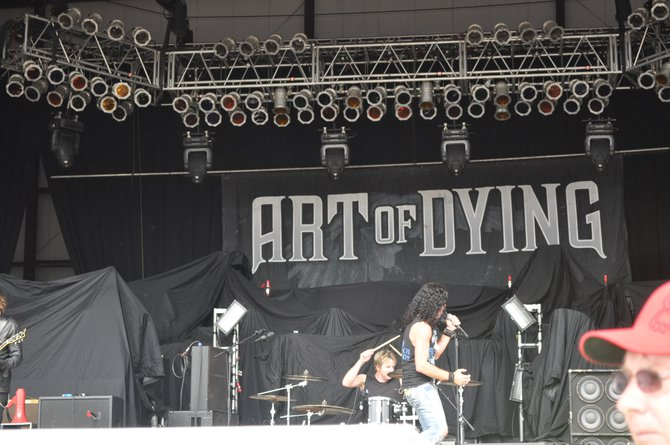 Art of Dying on stage at Rock Fest 2012