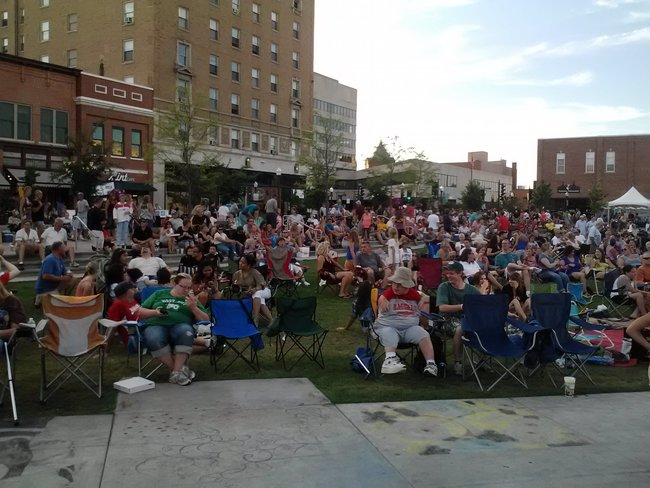 A great turnout for the Josh Gracin concert as he rocked the 400 Block in downtown Wausau, WI Saturday night 7/21/12