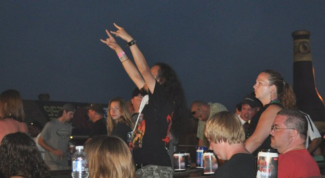 "Way before the show started, this guy was chanting ""MAIDEN, MAIDEN!"""