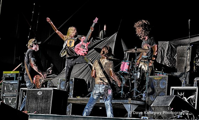 "My ""Rock Poster"" pic of Black Stone Cherry..one of the great ways to start off Rockfest on stage!"