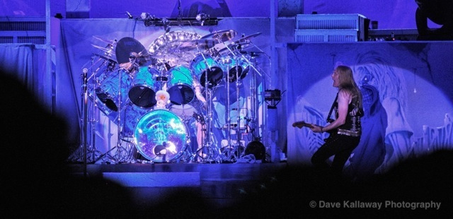 Iron Maiden played loud and long at Rockfest..and one of my favorite drum set ups! Where's the drummer..lol