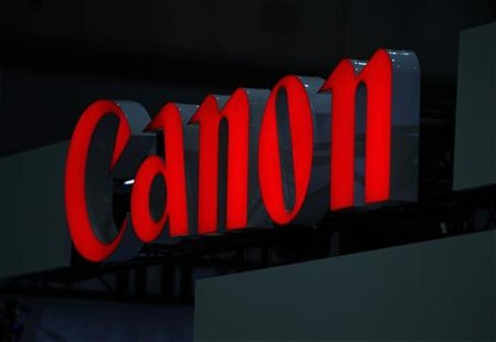 A logo of Canon Inc is pictured at the 3D and Virtual Reality Expo in Tokyo June 20, 2012. The expo which showcases the latest technology wi