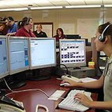 An emergency dispatch center.
