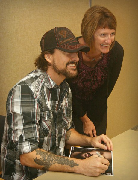 Rick Monroe with fans