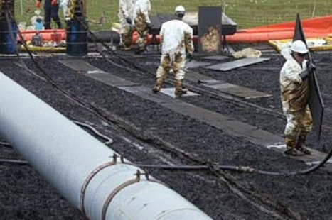Workers at a gas pipeline.