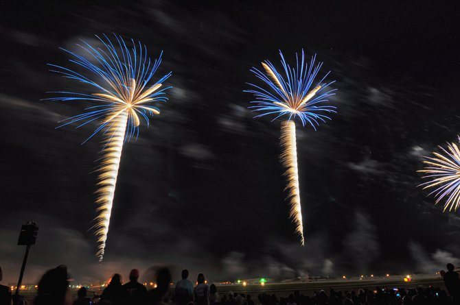"More fireworks from the ""Night Show""...Ka-BOOM times two!!!"