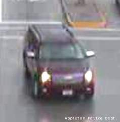 Appleton police say this SUV hit a bicyclist at the intersection of Calumet St. and Eisenhower Dr., July 25, 2012.