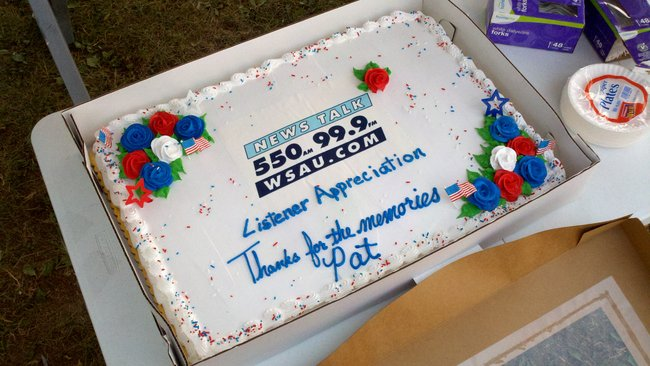 Farewell cake for WSAU morning host Pat Snyder