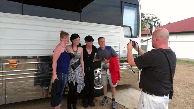 Listeners Amanda and Paul with Thompson Square