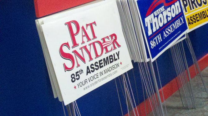 Pat Snyder yard signs.