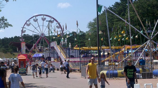 The Wisconsin Valley Fair midway.