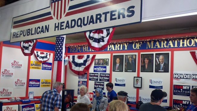 GOP headquarters at the Wisconsin Valley Fair.