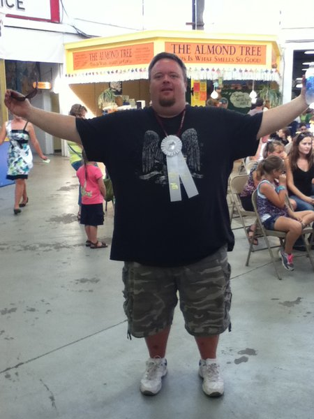 Bryan Scott took 3rd in the Watermelon Eating Contest!!