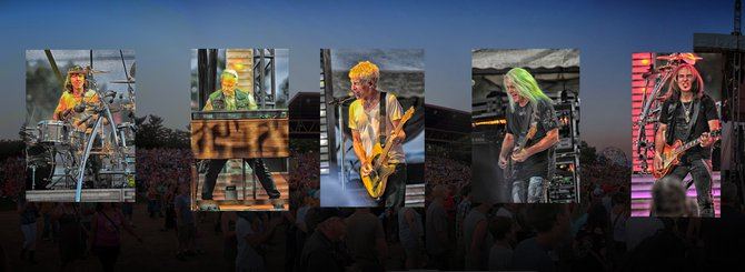 My REO Speedwagon Poster! They rocked out at the Wisconsin Valley Fair!! Glued the boys on a big panorama of the crowd!