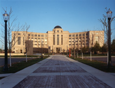 The Michigan Hall of Justice, where the Supreme Court presides
