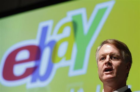 eBay Inc President and CEO John Donahoe speaks during a news conference in Tokyo May 9, 2012. REUTERS/Yuriko Nakao