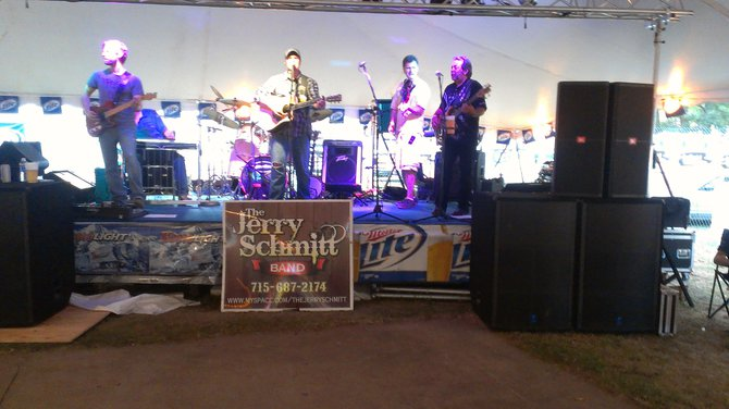 Jerry Schmitt Band in the Wausau Noon Optimist Tent Friday night