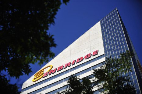 The Enbridge Tower is pictured on Jasper Avenue in Edmonton August 4, 2012. REUTERS/Dan Riedlhuber