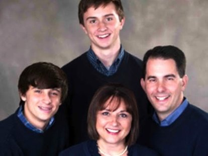 Scott Walker and family.