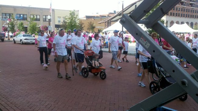 Walkers at the 2012 Susan G Komen Race For The Cure in Wausau, WI