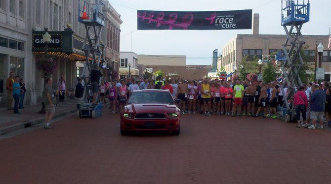 Runners at the 2012 Susan G Komen Race For The Cure in Wausau, WI