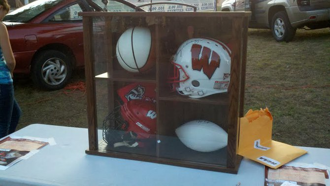 Badgers football raffle at the 2012 Mosinee Log Jam.