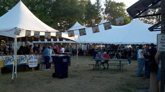 Beer garden at the 2012 Mosinee Log Jam.