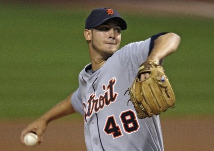 Detroit Tigers Pitcher Rick Porcello