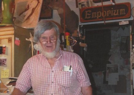Robert Eugene Medema in his shop