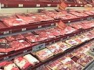Grocery store meat case