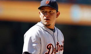 Detroit Tigers first baseman Miguel Cabrera in Anaheim, California, August 26, 2009. Courtesy of Reuters.