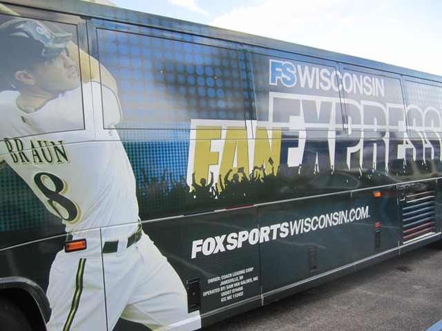 We're the first group EVER to ride the FS Wisconsin Fan Express!