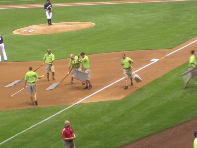 Grounds crew doing what they do.