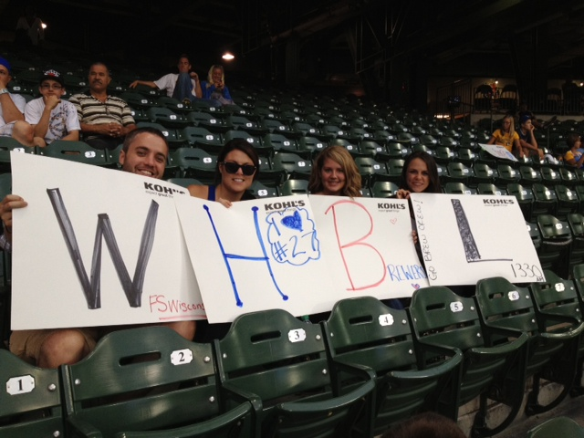 WHBL listeners at Miller Park to watch the Brewers take on the Phillies