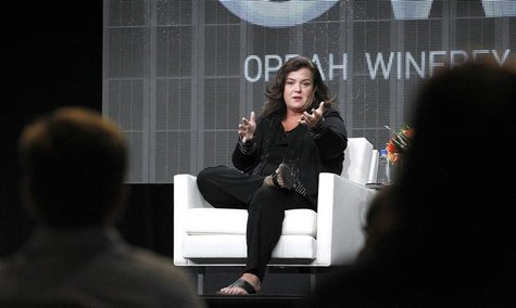 "Host Rosie O'Donnell answers a question during the OWN session for ""The Rosie Show"" at the 2011 Summer Television Critics Association Cable"