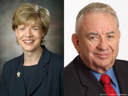 Rep. Tammy Baldwin (D) - Madison and former Governor Tommy Thompson (R)