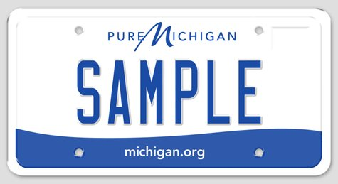 Pure Michigan license plate
