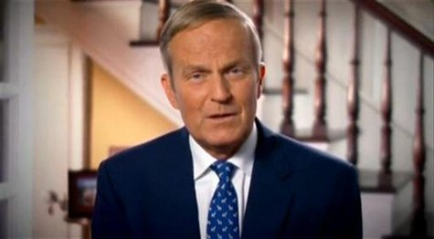 Still image taken from an online video shows U.S. Representative Todd Akin issuing an apology through his official Congressional website Aug