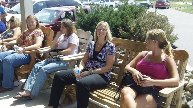 WDEZ listeners having a great time at the Backyard BBQ Saturday, August 25, 2012 at Marathon Town & Country Store.