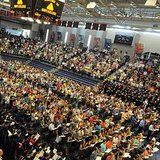 DeVos Fieldhouse is filled during Hope College's Opening Convocation ceremony on Aug. 26, 2012. (photo courtesy Hope College)