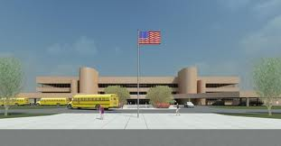 Proposal of the new high school in Hudson (courtesy of Hudson School District).