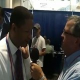 Artur Davis interviewed by Jerry Bader of WTAQ in Tampa, Florida at the RNC.