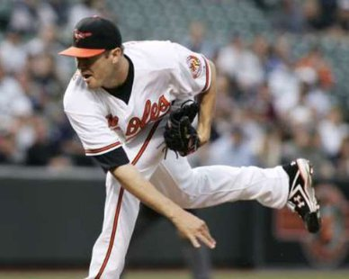 Baltimore Orioles starting pitcher Chris Tillman. REUTERS/Joe Giza