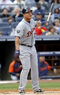 Miguel Cabrera and the Tigers were stumped Wednesday night by Kansas City starter Bruce Chen