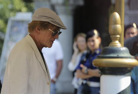 "Actor Robert Redford arrives to attend a photocall for the movie ""The company you keep"" at the 69th Venice Film Festival in Venice September"